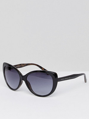 French Connection Oversized Square Sunglasses - Demi black