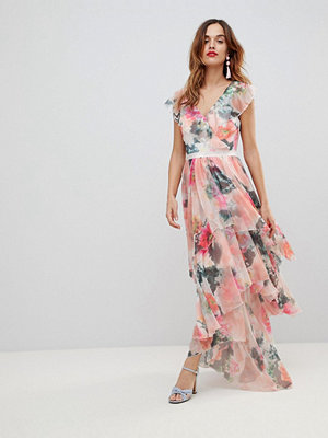 Y.a.s graphic floral print maxi dress