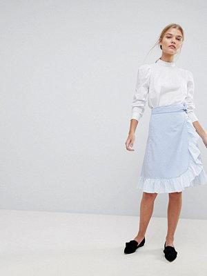 Max & Co Max&Co Omlott kjol med volang Blå/vitrandig