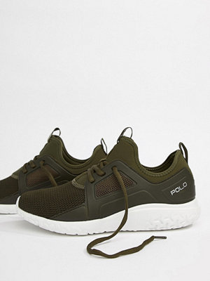 Polo Ralph Lauren Performance Train 150 Trainers Mesh Neoprene Mix in Olive Green - Olive green