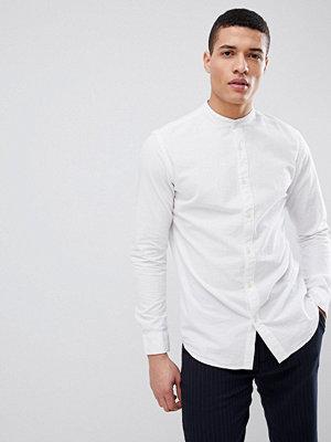 Selected Homme Seersucker Shirt With Grandad Collar