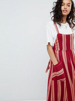 Free People Chanti Stripe Maxi Dress - Red combo