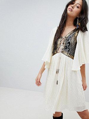 Free People Moonglow Embellished Mini Dress - Ivory