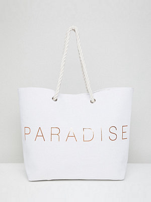 South Beach shopper Paradise Beach Bag - White