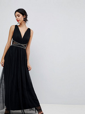 Little Mistress Lace Back Maxi Dress
