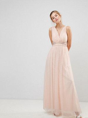 Little Mistress V-Neck Maxi Dress - Light pink