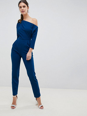 City Goddess One Shoulder Jumpsuit