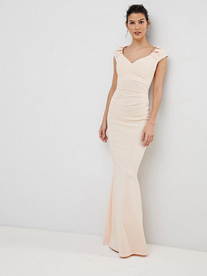 City Goddess Pleated Maxi Dress - Pale pink