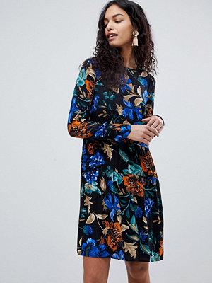Y.a.s Spine Floral Print Dress - Black flower