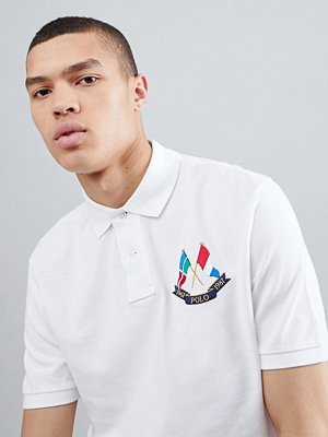 Polo Ralph Lauren Bring It Back Embroidered Flags Pique Polo Custom Regular Fit