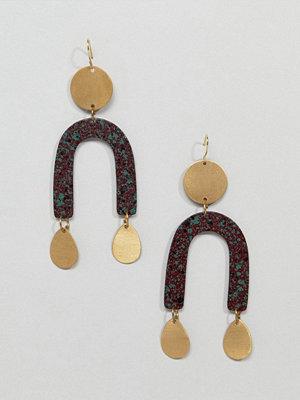 ASOS örhängen DESIGN Patina Abstract Shape Earrings