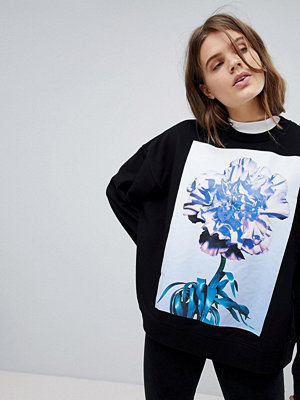 Weekday Mönstrad sweatshirt i oversizemodell