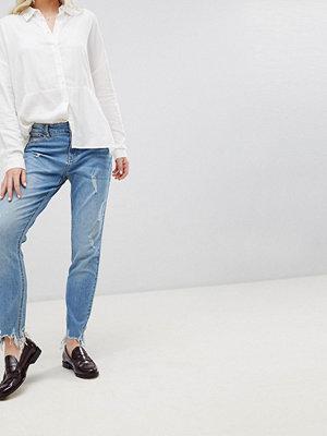Jdy Albany Raka jeans med sliten fåll