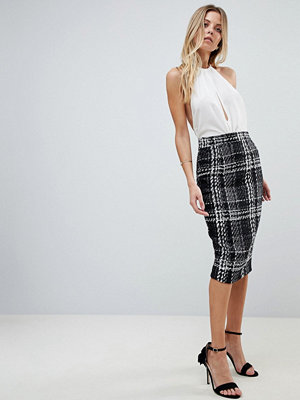 Vesper Check Pencil Skirt