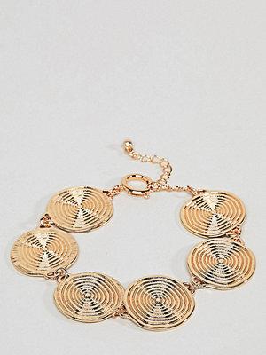 ASOS Curve armband ASOS DESIGN Curve Statement Swirl Coin Bracelet