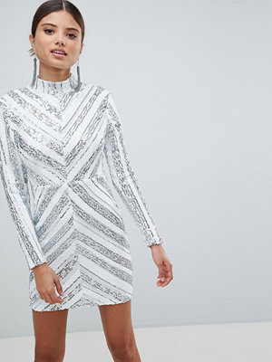 Girl In Mind Sequin Long Sleeve Mini Dress