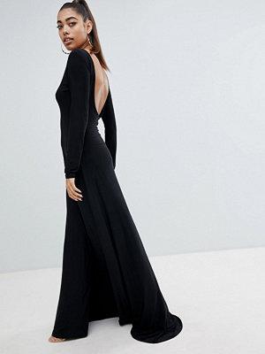 Fashionkilla Open Back Maxi Dress With Thigh Split