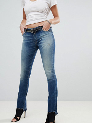 Replay Dominquli Cropped Bootcut Jeans - Dark wash