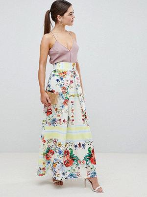 ASOS DESIGN scuba prom skirt with mirrored flower print