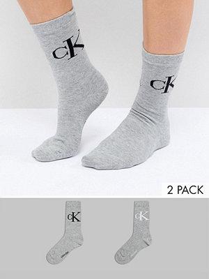 Calvin Klein Strumpor med retrologga i 2-pack