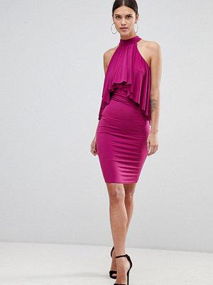 Forever Unique Ruffle Halter Neck Dress