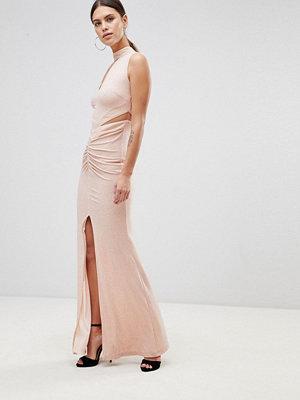 Forever Unique Choker Detail Maxi Dress - Soft pink