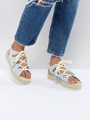 Pull&Bear lace up espadrille