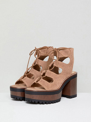 Pull&Bear lace up front heel