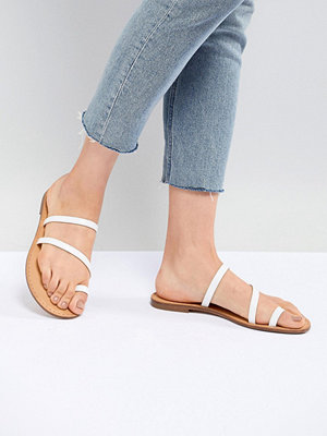 Bershka clean multi strap flat sandals