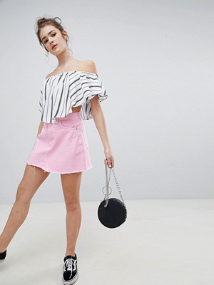 Bershka denim skirt in pink - Pale pink