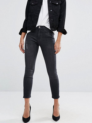 River Island Lori Skinny Jean in Washed Black