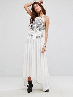 Raga Adeline Halterneck Embroidered Maxi Dress
