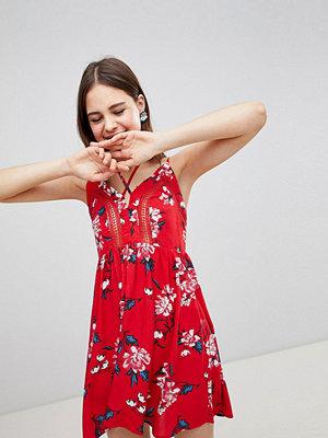 Brave Soul Lula Cami Dress in Rose Print