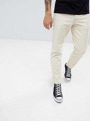 ASOS DESIGN Slim Jeans In Ecru - Off white