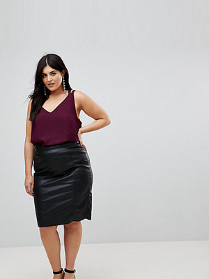 River Island Plus Faux Leather Pencil Skirt