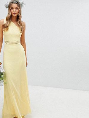 TFNC Embellished Maxi Bridesmaid Dress - Pastel yellow