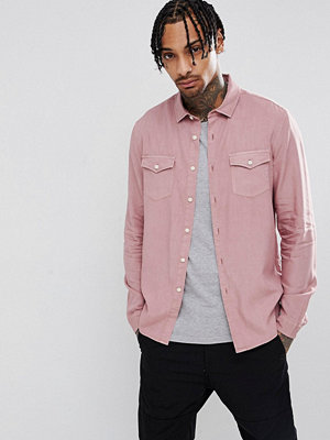 ASOS DESIGN regular fit garment dyed vintage wash shirt