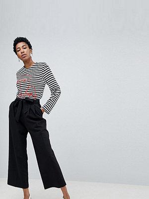 ASOS DESIGN byxor Tall Culotte med knytning i midja att mixa och matcha