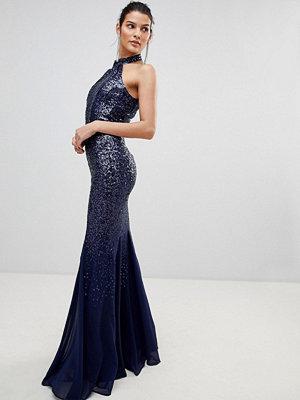 City Goddess Cut Out Sequin And Chiffon Maxi Dress