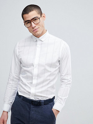 Selected Homme Slim Fit Smart Shirt With Vertical Stripe