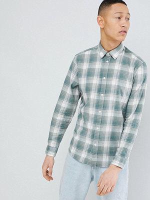 Selected Homme Slim Fit Check Shirt - Laurel wreath