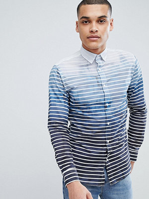 Selected Homme Selected Homme+ Slim Fit Shirt With All Over Print - Lake blue