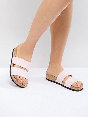 Monki Double Strap Sandal - Light pink