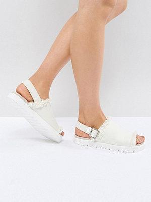 Monki Slip On Ankle Strap Sandal - Off white