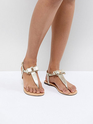 Oasis Bow Sandals - Gold