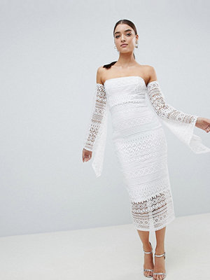 Club L Bandeau Crochet Arm Detailed Midaxi Dress