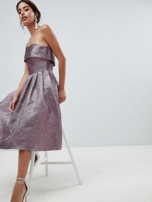 Forever Unique Metallic Strapless Prom Dress