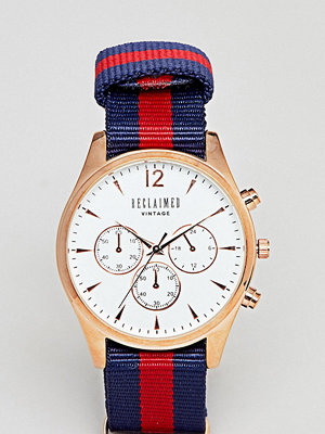 Klockor - Reclaimed Vintage Inspired Chronograph Canvas Watch In Stripe