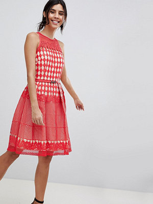 Little Mistress Crochet Lace Prom Dress - Poppy