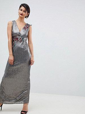 Little Mistress All Over Sequin Maxi Dress - Mocha
